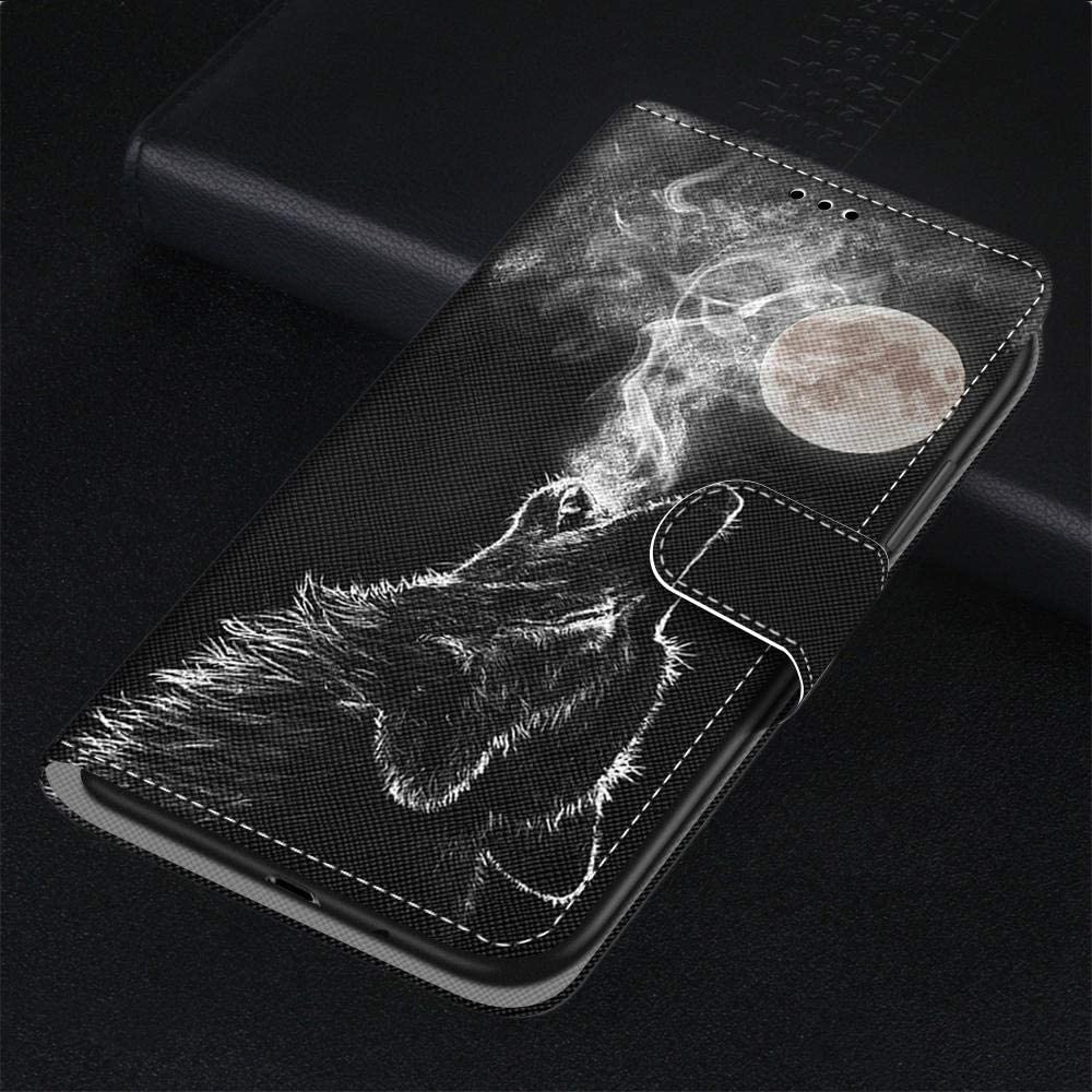 For Huawei P20 Lite Case Flip PU Leather Shockproof Wallet Case with Stand Magnetic Money Pouch Folio Silicone Bumper Gel Protective Phone Cover for Huawei P20 Lite Black Rose