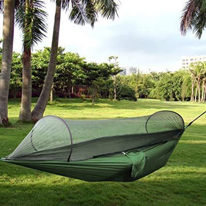 C&ing HammockTopist Hammock Tent Pop Up Mosquito Net Ultralight Durable Parachute Fabric Hammock for & Amazon.com: Camping HammockTopist Hammock Tent Pop Up Mosquito ...