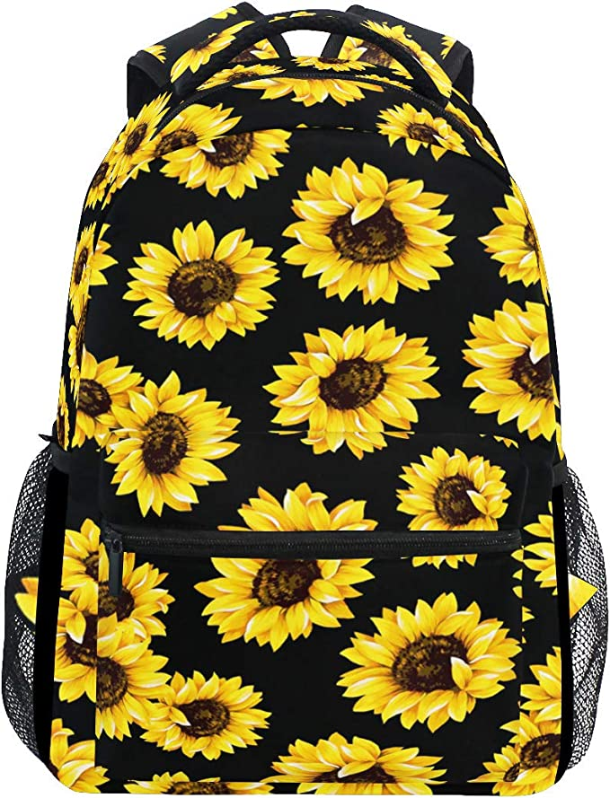 Tribal Floral Mandala Trippy Flower School Backpack Laptop Backpacks Casual Bookbags Daypack for Kids Girls Boys and Women