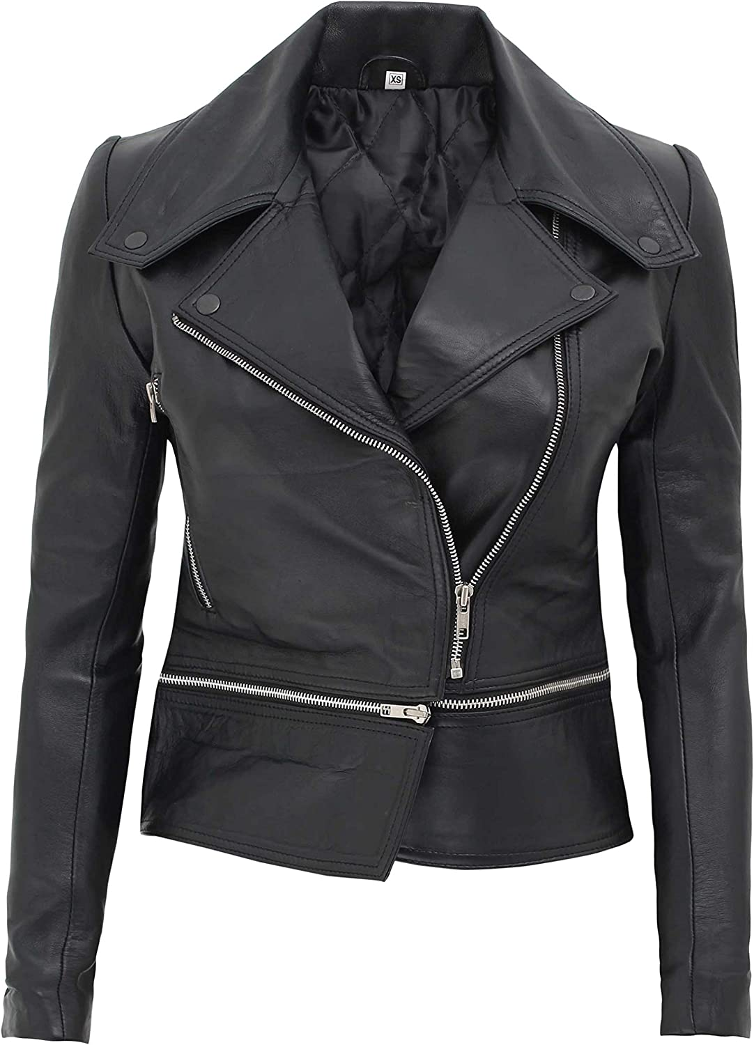 Decrum Real Leather Jackets for Women - Lambskin Womens Leather Jacket
