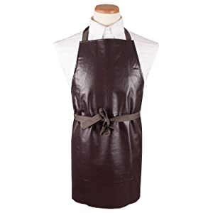 RITZ Food Service CLVA-1 Vinyl Kitchen Bib Apron, Brown