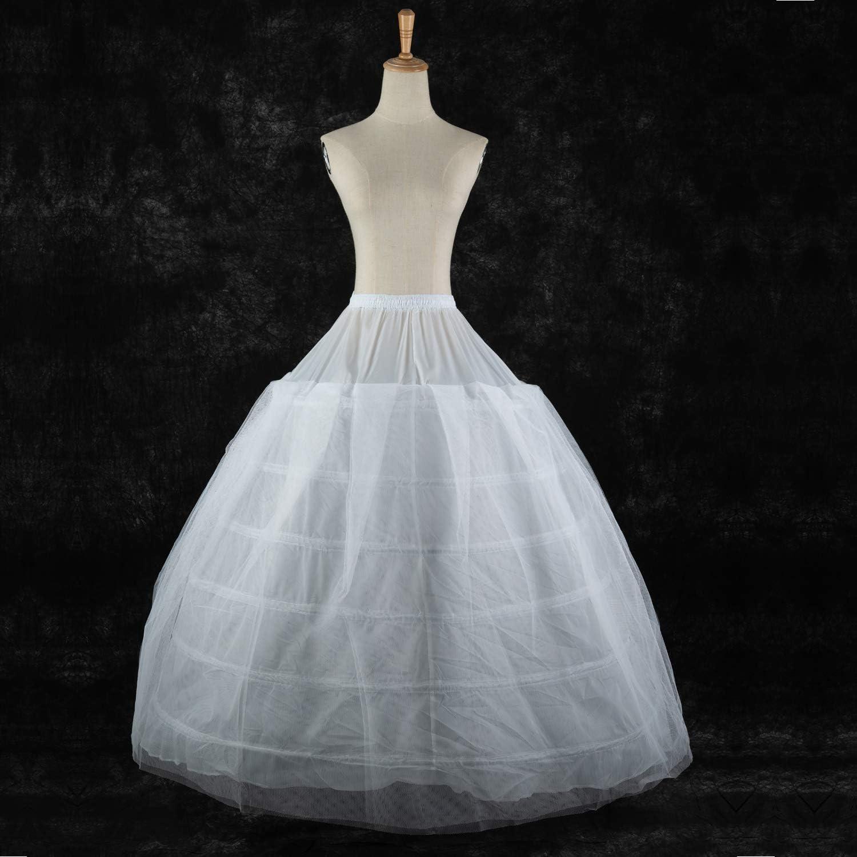 LONGBLE Reifrock - Vestido de novia, falda de tul, con 6 ...