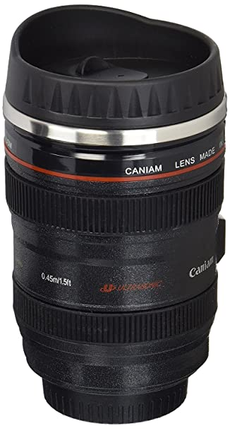 The Camera Lens Stainless Steel Insulated Travel Thermos travel product recommended by Tina Butera on Lifney.