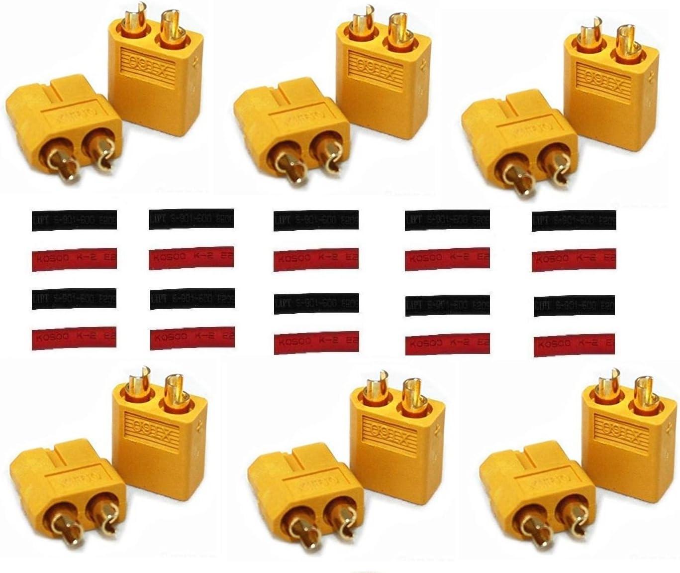 XT60 Connector Set w// Heat Shrink Tubing