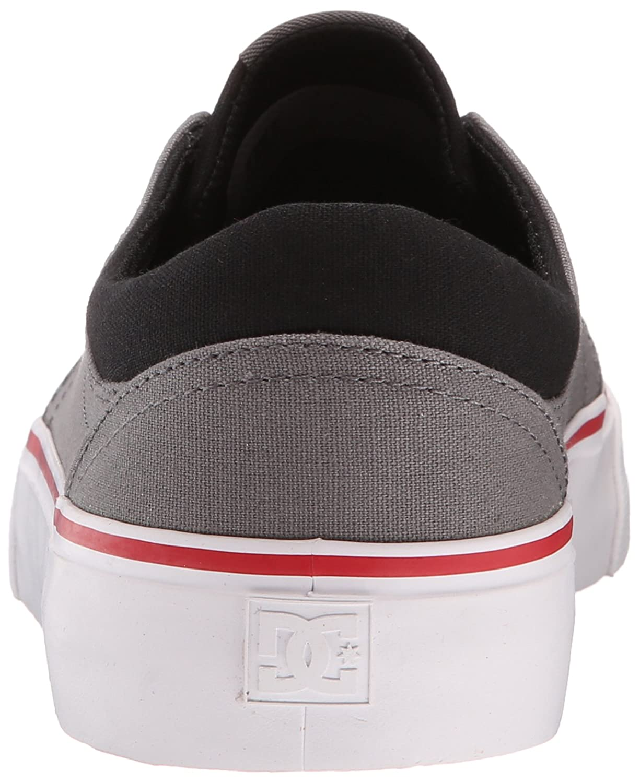 DC Men's Trase TX Unisex Shoe Skate Shoe Unisex 7 M US|Grey/black/red B00U2UIO7O 8227a8