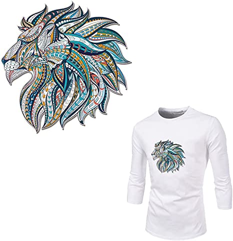 2 pcs Vivid Animal Men T-shirt Craft Embroidered Patch Appliques Wolf Patches