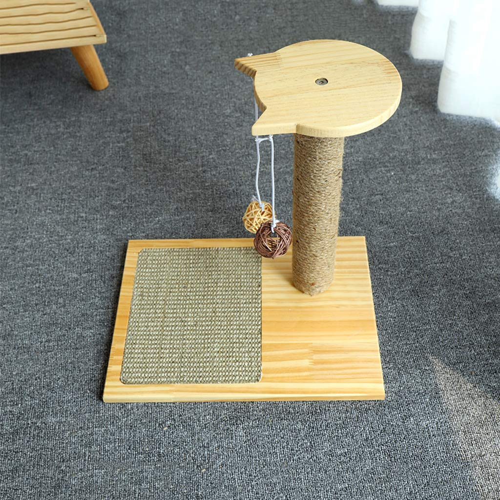 B AB pet nest Cat climbing frame solid wood tree cat jumping platform small cat column sisal rope cat scratch board homemade cat claw toy  jute column