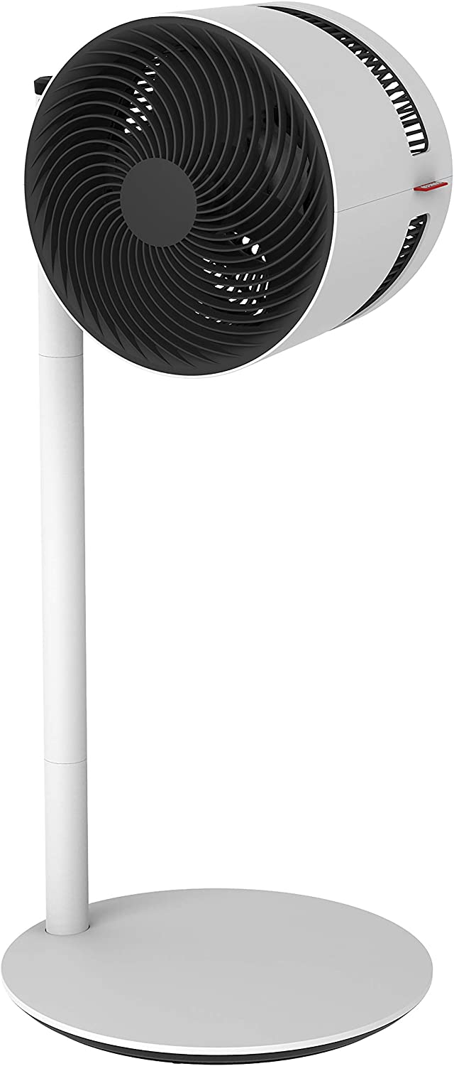 BONECO F220 Pedestal Shower Large or Small Whole Room Air Circulation-Quiet Height of 19 OR 33.5 -270 Degree Adjustable Head-4 Fan Speeds, 19in OR 33.5in, White