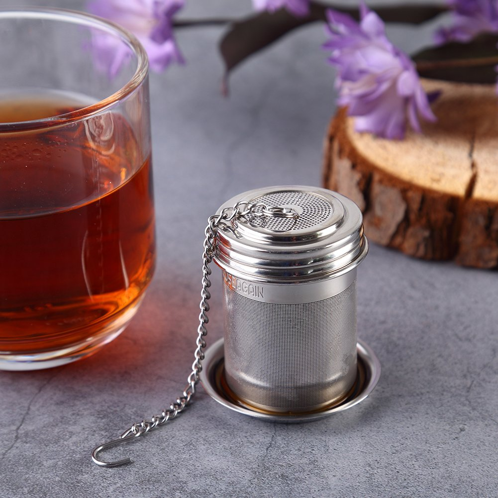 House Again Tea Ball Infuser & Cooking Infuser, Extra Fine Mesh Tea Infuser Threaded Connection by HOUSE AGAIN (Image #6)