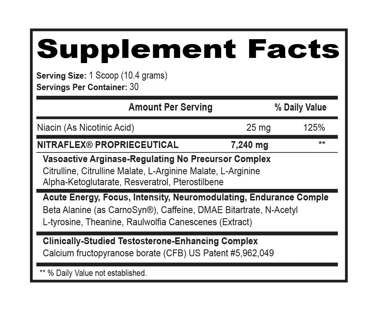 GAT Clinically Tested Nitraflex, Testosterone Enhancing Pre Workout Pack of Two 30 Servings (BlueRaspberry 2 x 30svg)