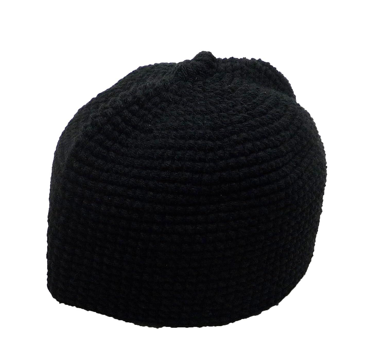 Al ameen amn muslim crochet prayer hat kufi taqiyah takke headware skull cap  islam gift black c5fff57e1ec4