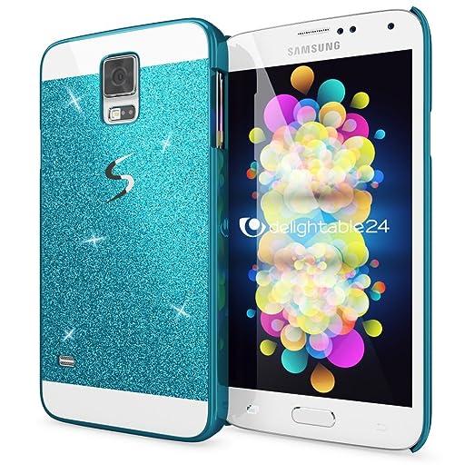 4 opinioni per Samsung Galaxy S5 S5 Neo Custodia Protezione di NICA, Glitter Hard-Case Sottile