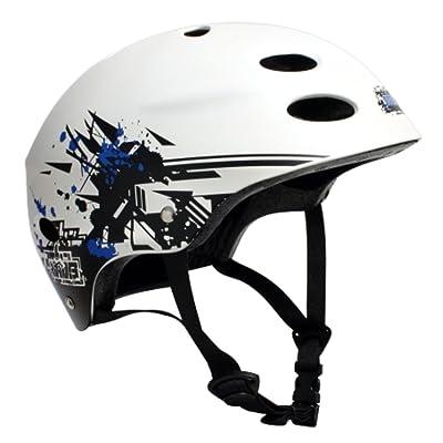 MBS Grafstract Helmet (White, Small/Medium) : Skate And Skateboarding Helmets : Sports & Outdoors