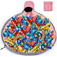 Large Play Mat for Lego City Storage and Organizers Bag Outdoor Toy Quick Storage Container Collapsible Canvas Basket…