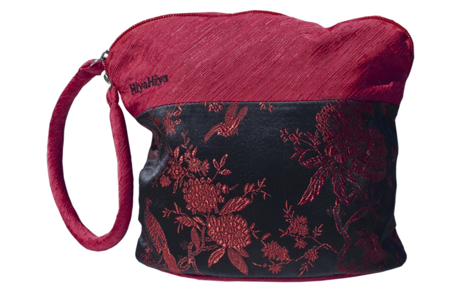 HiyaHiya Small Project Bag for Knit and Crochet - Red and Black Floral