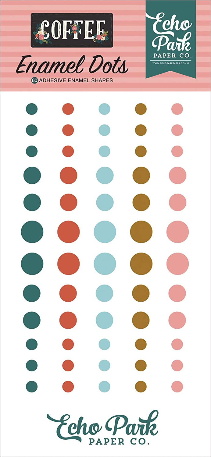 Echo Park Paper Company CO164028 Coffee Enamel dots Black Blue Teal Navy Green Pink red
