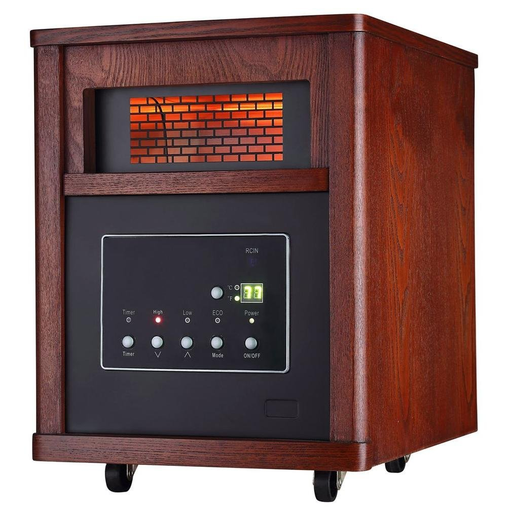 1500-Watt 6-Element Infrared Electric Portable Heater with Remote Control ecotronic 632455