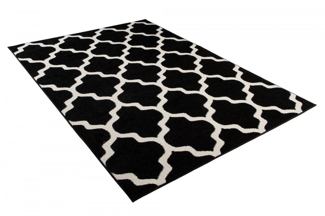 Tapiso MAROKO Teppich Modern Kurzflor Geometrisch Marokkanisch Designer Muster Creme Grau Wohnzimmer Jugendzimmer /ÖKOTEX 60 x 100 cm