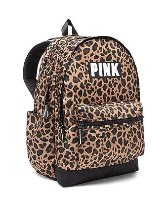 616725e39157 Amazon.com: Victoria's Secret Pink Campus Backpack NEW Animal Print Leopard:  MacMakeupDivas