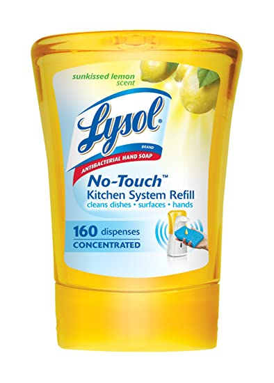 Lysol No Touch Kitchen System Refill | Amazon Com Lysol No Touch Single Refill Kitchen System Sunkissed
