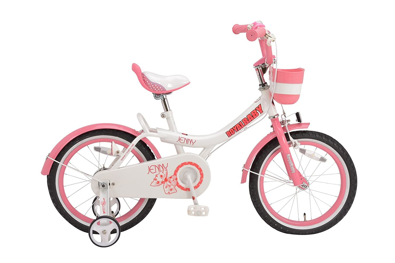ROYALBABY(ロイヤルベイビー) 補助輪付き 子ども (幼児向け) 自転車 [メーカー保証1年] 前後泥除け付き RB-Jenny ピンク B01IB5JR04 18インチ