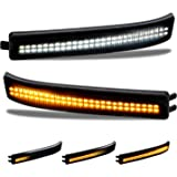 RUXIFEY Sequential Switchback Side Mirror Reflector LED Turn Signal Light Smoked lens Compatible with 2009 to 2014 Ford F150