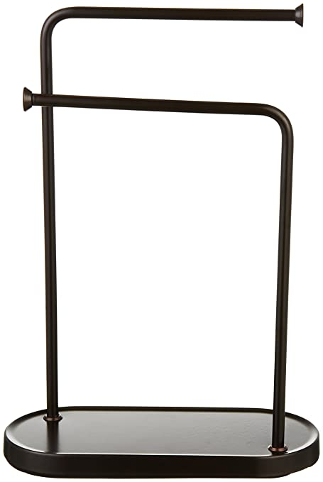 Amazoncom AmazonBasics Double L Hand Towel and Accessories Stand