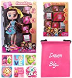 Boxy Girls Gift Bundle - (1) Brooklyn BoxyGirls Doll with 12 Surprises + (1) Fashion Pack with 20 Surprises + (6) Shopkins Stickers with Compatible Toy Storage Bag!