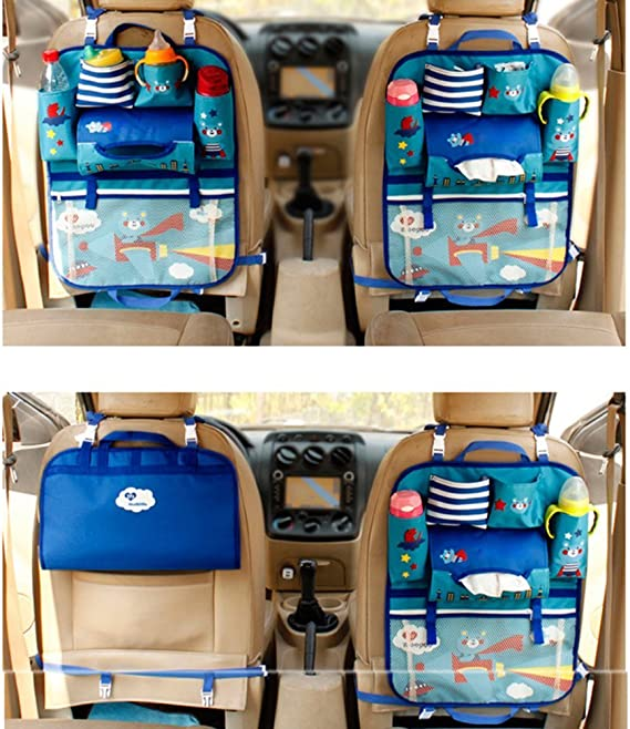 Organizador para asiento trasero de coche con bolsillos para ni/ños Tirzah Cartoon