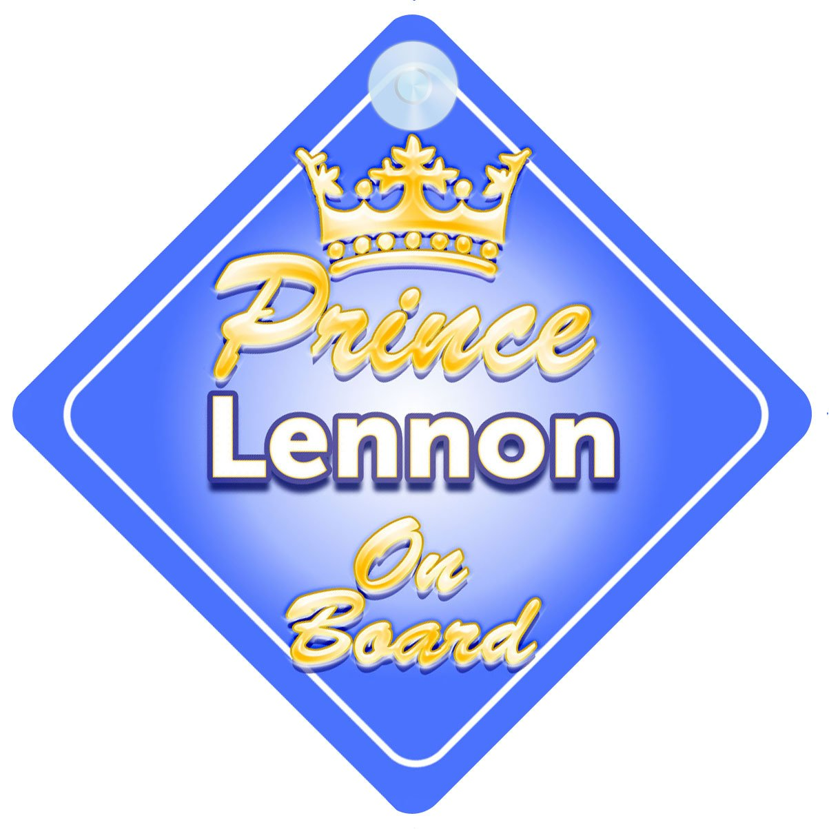 Crown Prince Lennon on Board Personnalis/é pour b/éb/é//enfant gar/çons voiture Panneau