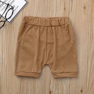 QinMMROPA Pantalones Cortos para de bebés niños y niñas ...