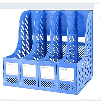 File Shelf ZDDAB Archivador 4 Columna Oficina Caja de Almacenamiento Simple Mesa A4 Carpeta Almacenamiento Organizar