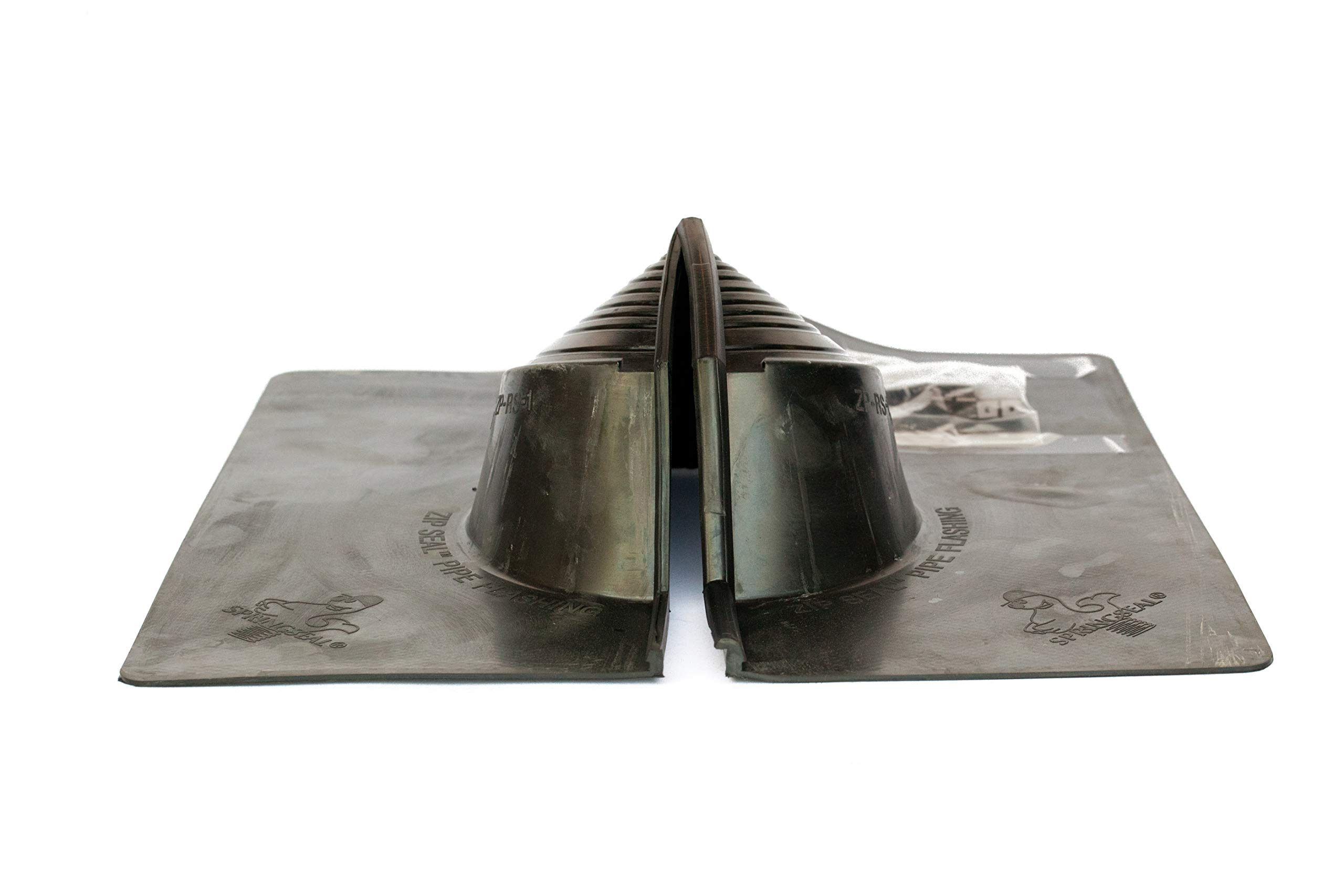 Residential Retrofit Pipe Flashing (Shingle Roof) Electrical Mast Flashing 1/4'' - 5 3/8'' by Golden Rule Fasteners