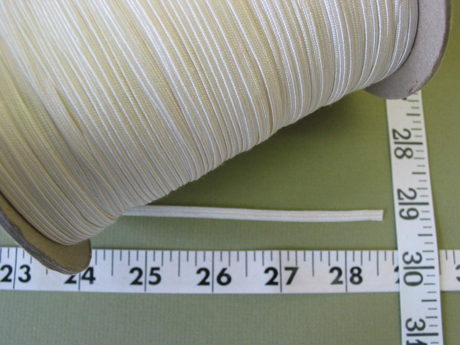 Trim Middy Braid Winter White Rayon 3/16 W 1 Roll 288 Yds Close Out Sale by Gonling
