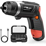 SALEM MASTER Cordless Screwdriver Electric Rechargeable Screwdriver 4.8V Lithium Ion Power Screw Guns with Battery Indicator