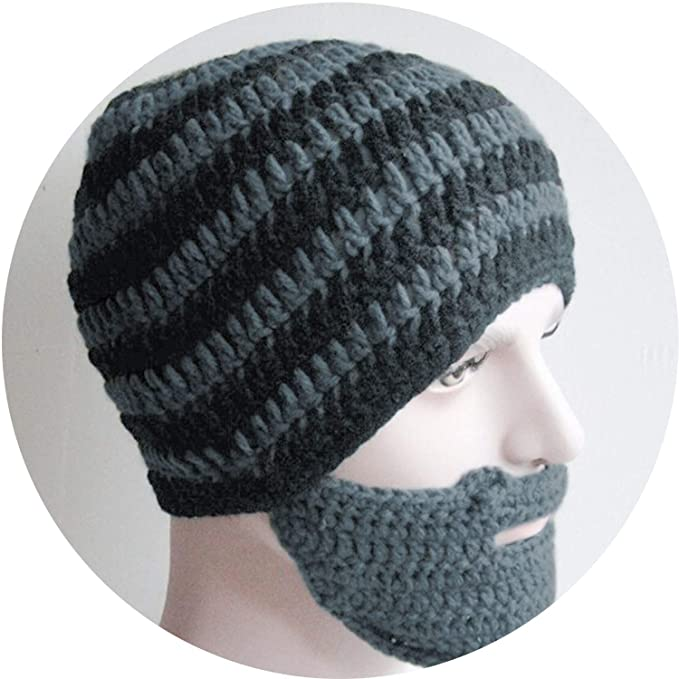 65cd6437a06 Knit Beard hat Men beaine ski face mask Balaclava Winter Hats for Men  Skullies Bonnet Homme