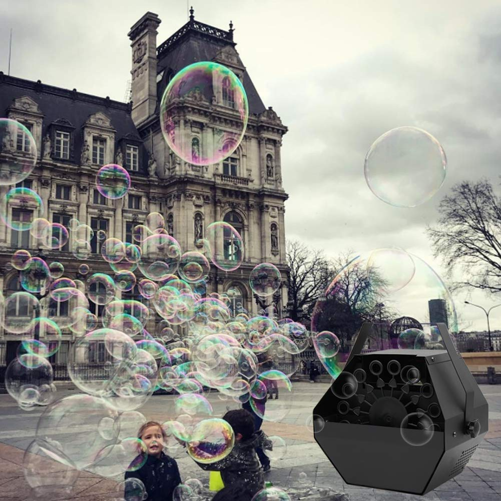 ATDAWN Portable Bubble Machine, Professional Automatic Bubble Maker with High Output for Outdoor/Indoor Use, Wireless Remote Control (Black) by ATDAWN (Image #9)