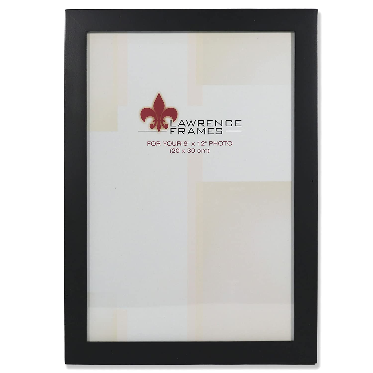 Amazon.com - Lawrence Frames Black Wood 8 by 12 Picture Frame ...