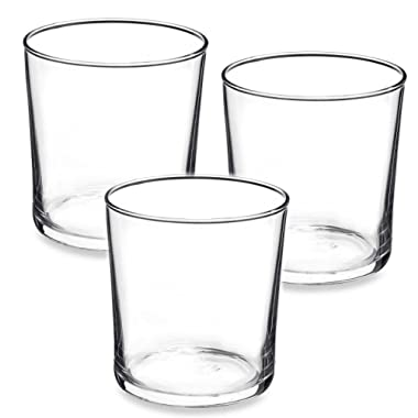 Bormioli Rocco Bodega Collection Glassware – Set Of 12 Medium 12 Ounce Drinking Glasses For Water, Beverages & Cocktails – 12oz Clear Tempered Glass Tumblers