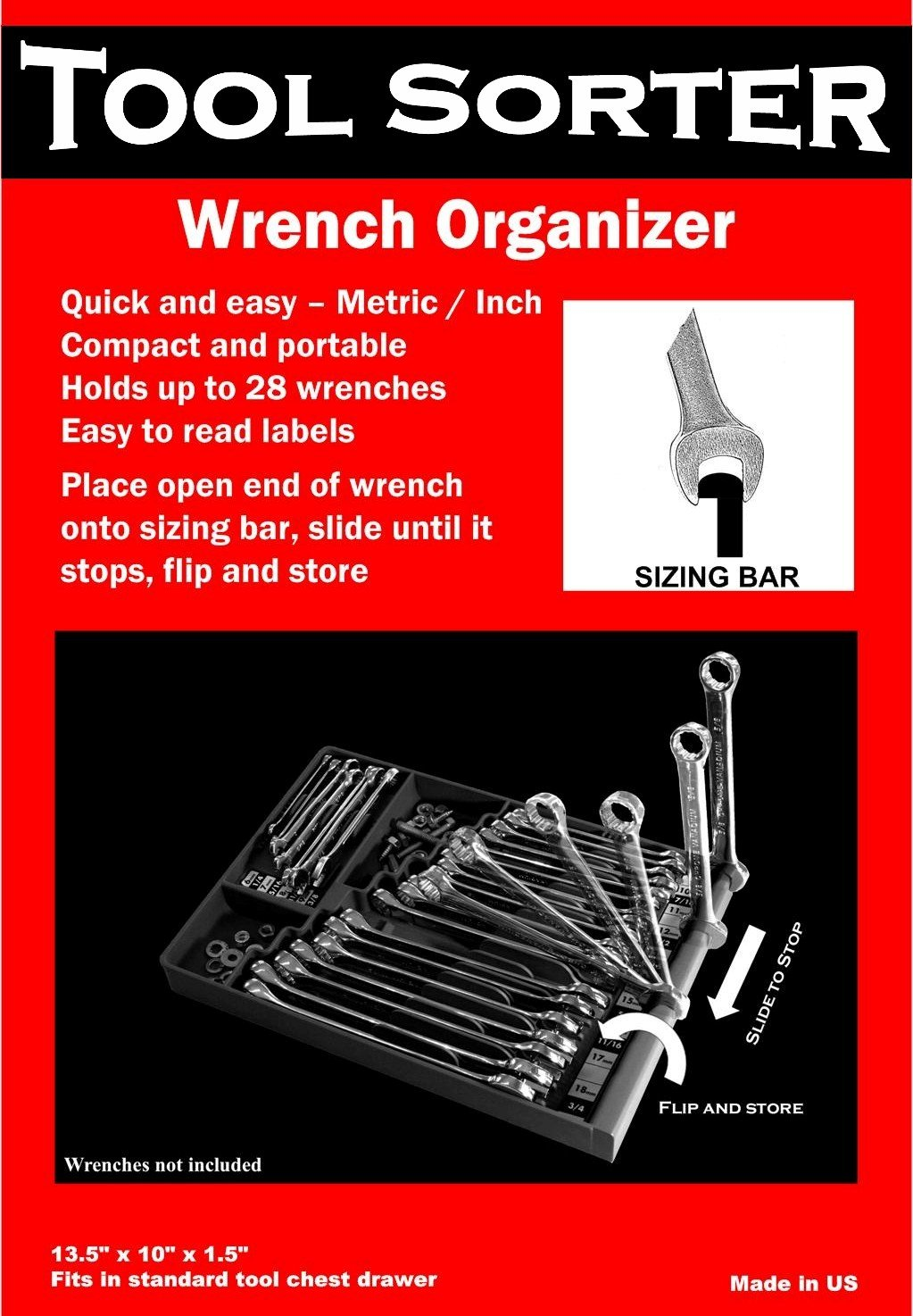 Tool Sorter Wrench Organizer - Red by Tool Sorter (Image #3)
