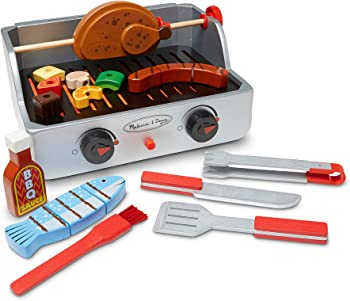 Melisa & Doug Colorful Wooden Pieces Grill Sets For Kids