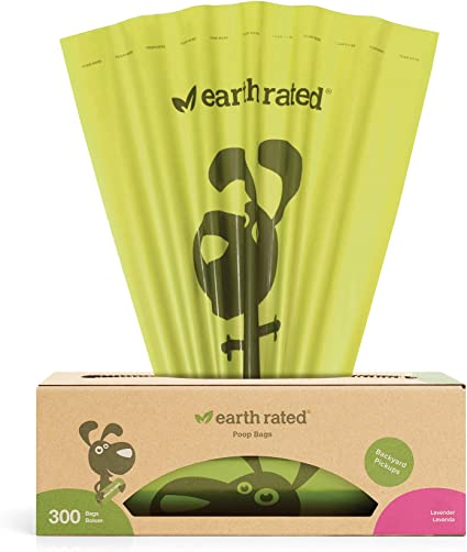 Lavender Scented Earth Rated Poop Bags Dog Waste Dispenser with 15 bags