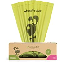 Earth Rated Dog Poop Bags, 300 Dog Waste Bags on a Large Single Roll, Guaranteed Leak-proof, Lavender-scented, Great for Backyard Pickups, Each Poop Bag Measures 8 x 13 Inches