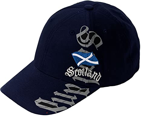 scottish rugby union baseball cap scotland hats vertical navy with adjustable strap football