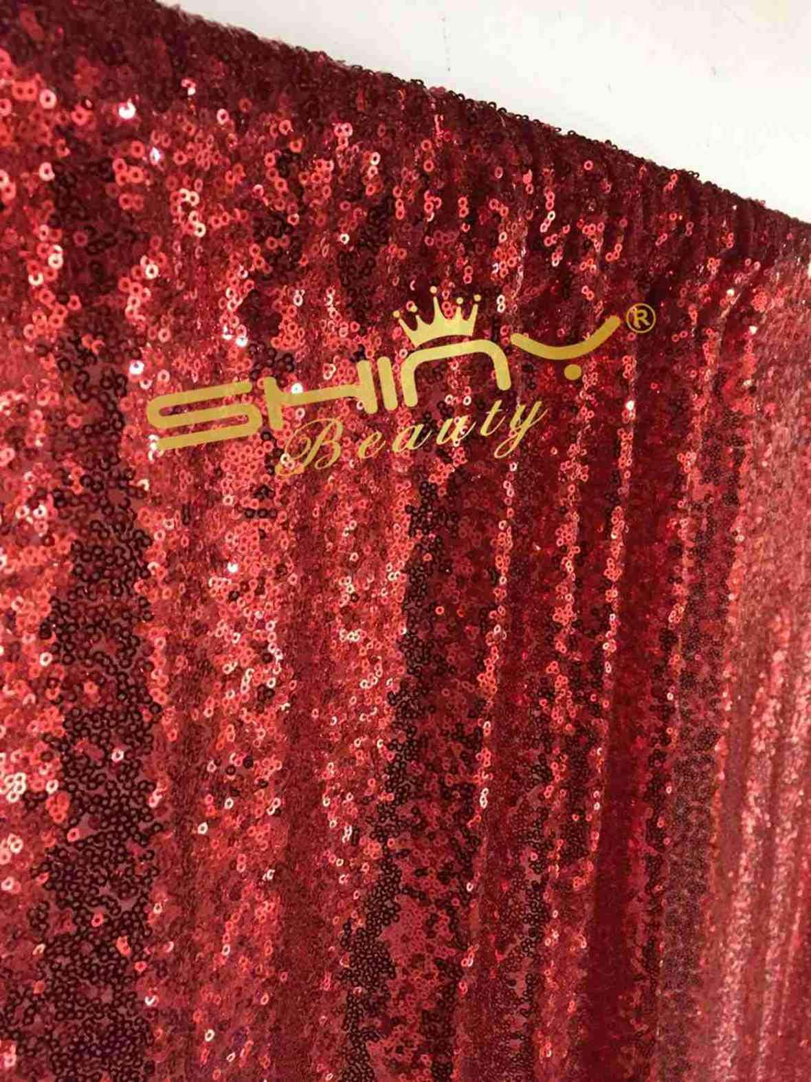 ShinyBeauty 20FTx10FT-Red-Sequin Backdrop, For Party or Wedding Sequin Photo Booth Backdrop,Wedding Backdrop, Photo Backdrop,Glitz Backdrop,Sequin Curtains by ShinyBeauty (Image #5)