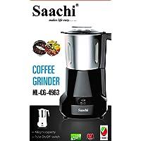 Saachi Coffee Beans Grinder, Black, NL-CG-4963