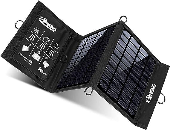 Amazon.com: X-DNENG - Cargador solar de 10 W, impermeable ...