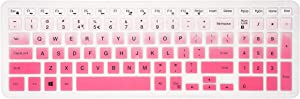 Keyboard Cover for Dell Inspiron 15 3000 5000 7000 Series/Dell Inspiron 17 5000 3000 Series/Dell G3 15 17 Series/Dell G5 15 Series/Dell G7 15 17 7786 7790 Series - Gradual Pink