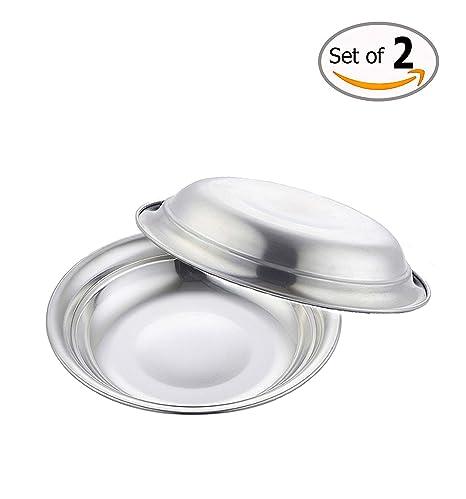 Fengding FD4-2P - Juego de 2 platos para mascotas, cuencos de comida para