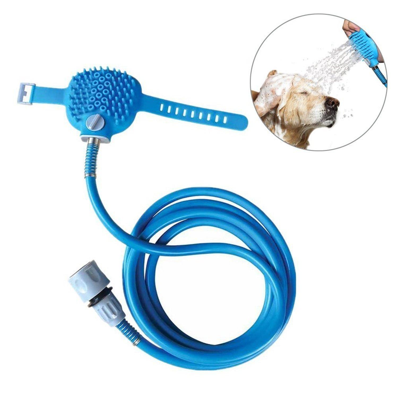 CuccioloFelice-Outil de bain pour chien. Pulvérisateur et laveur de douche d'animal familier dans-un, tuyau de jardin de douche de baignoire et de tuyau extérieur compatible,toilettage de chien
